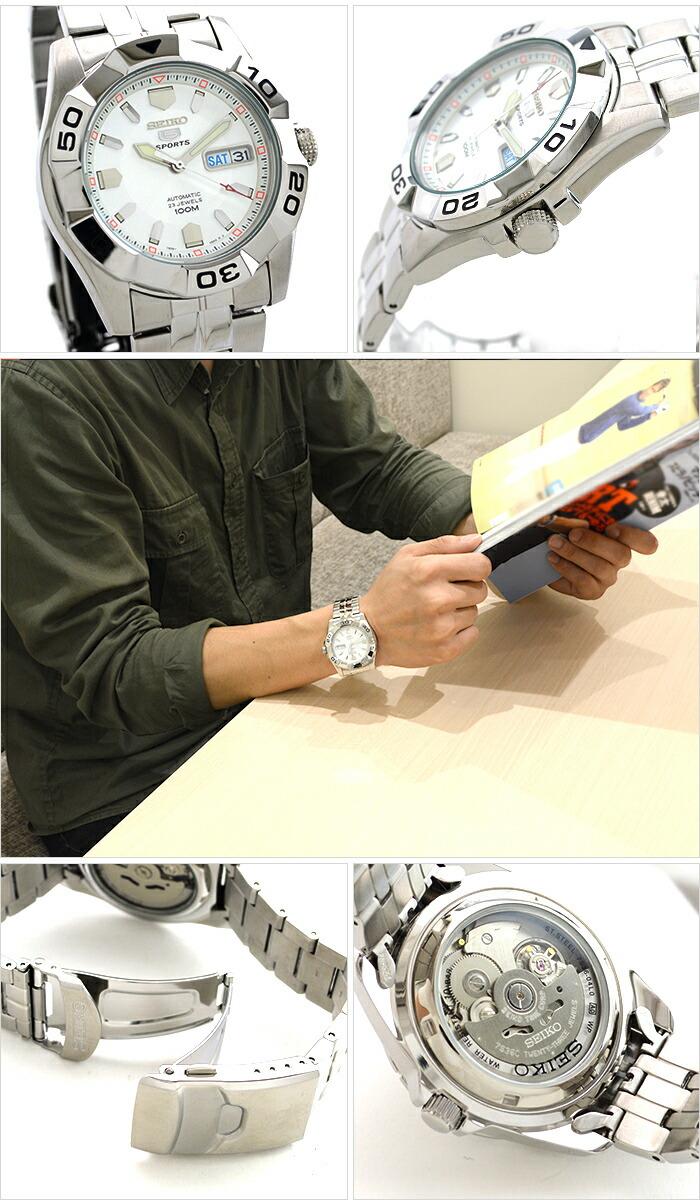セイコー5 逆輸入モデル 5スポーツ 100m防水 機械式(自動巻き) SNZH87K1 メンズ