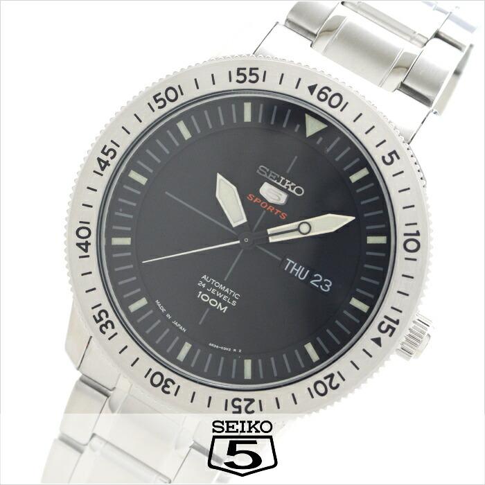 セイコー5 逆輸入モデル 5スポーツ 100m防水 機械式(自動巻き) SRP563J1 メンズ