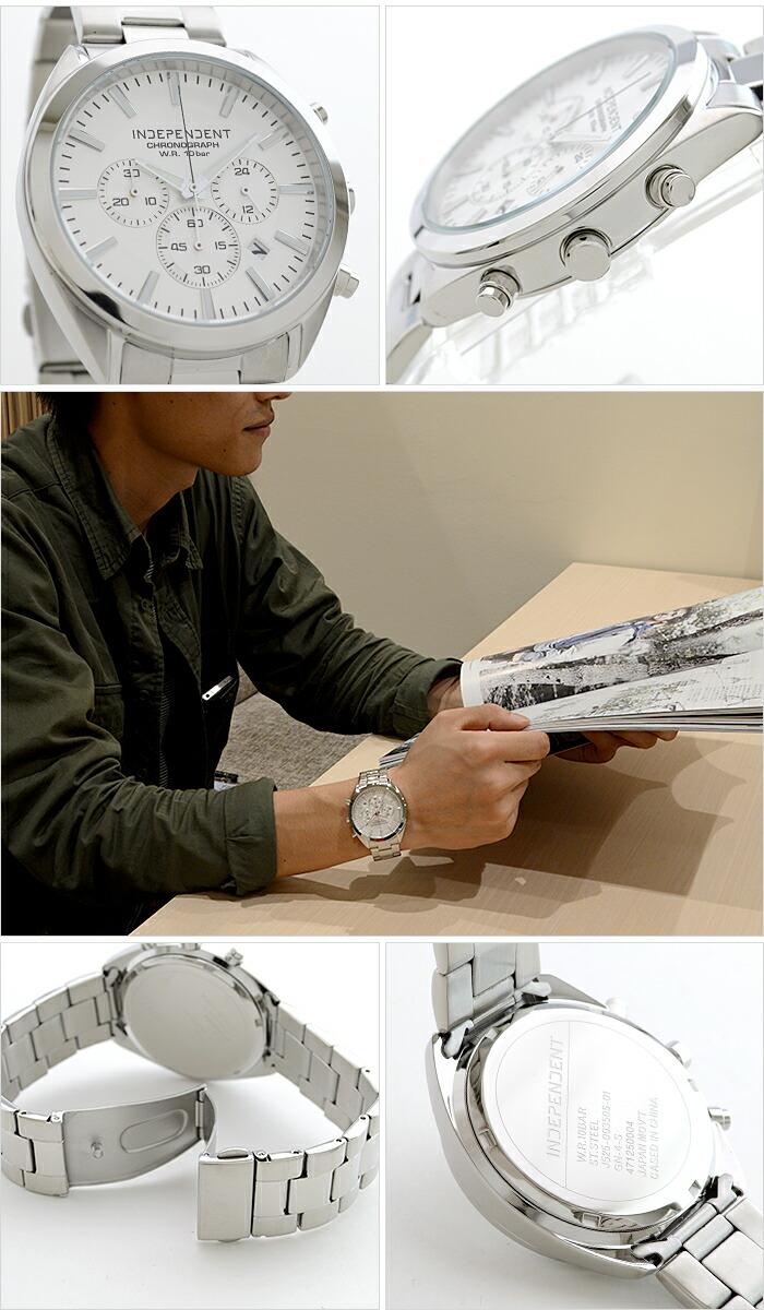 インディペンデント Timeless Line クロノグラフ BR1-412-11 メンズ