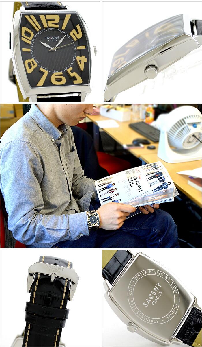 サクスニーイザック  SYA-15109-BKGD メンズ