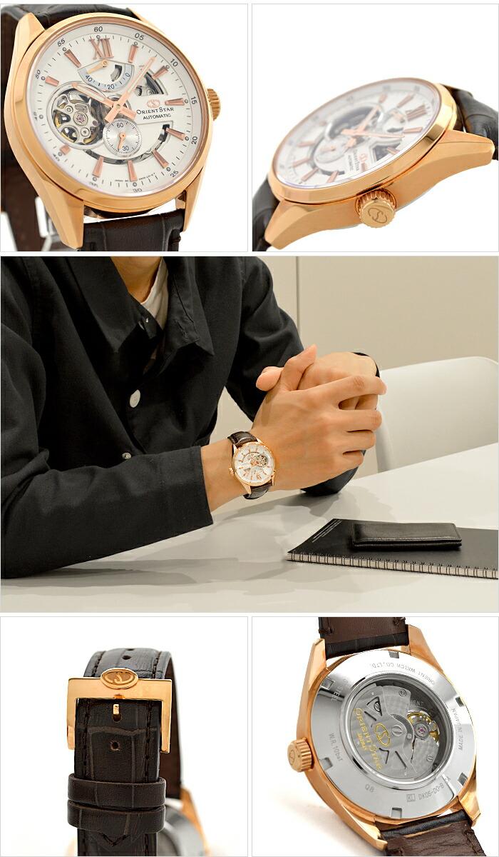 オリエントスター オリエントスター モダンスケルトン 機械式 自動巻き (手巻き付き) ホワイト WZ0211DK メンズ