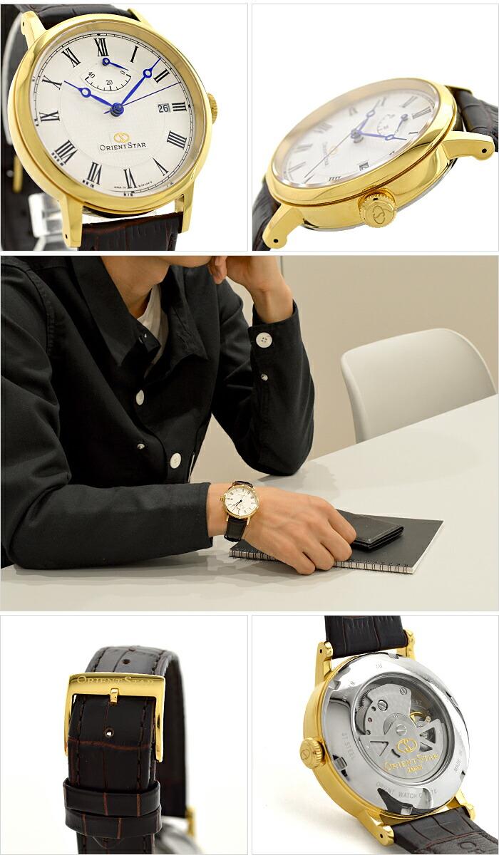 オリエントスター ORIENTSTAR オリエントスター エレガントクラシック 機械式 自動巻き (手巻き付き)  ウォームホワイト WZ0321EL メンズ