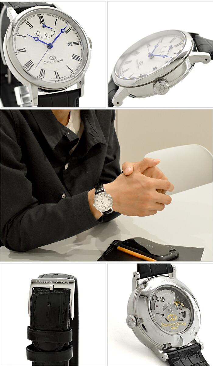 オリエントスター ORIENTSTAR オリエントスター エレガントクラシック 機械式 自動巻き (手巻き付き)  ウォームホワイト WZ0341EL メンズ