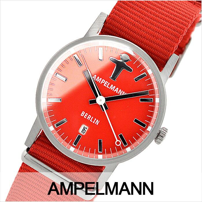 アンペルマン クォーツ ラウンド レッド ARI-4976-19 ユニセックス