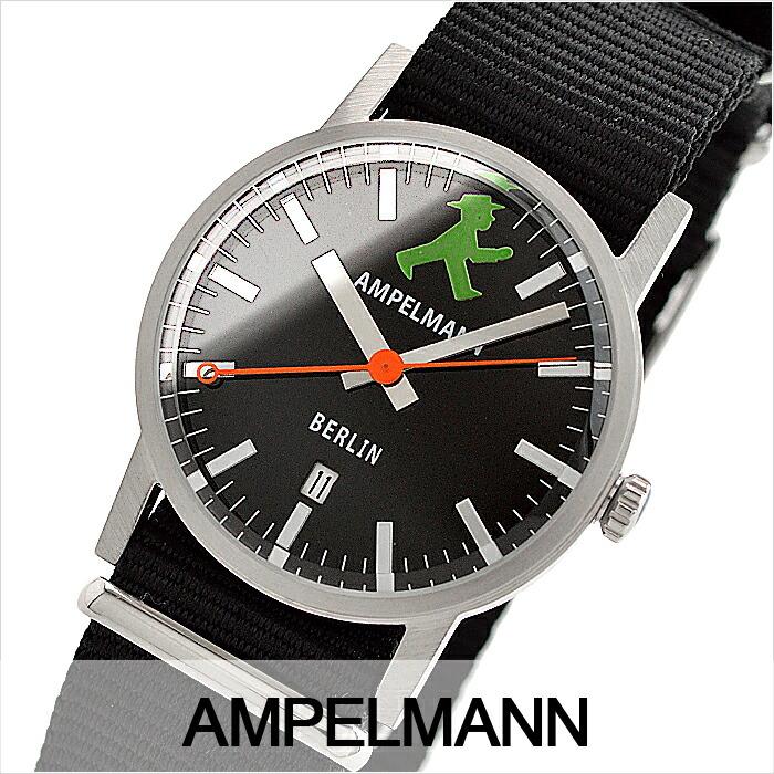 アンペルマン クォーツ ラウンド ブラック ARI-4976-05 ユニセックス