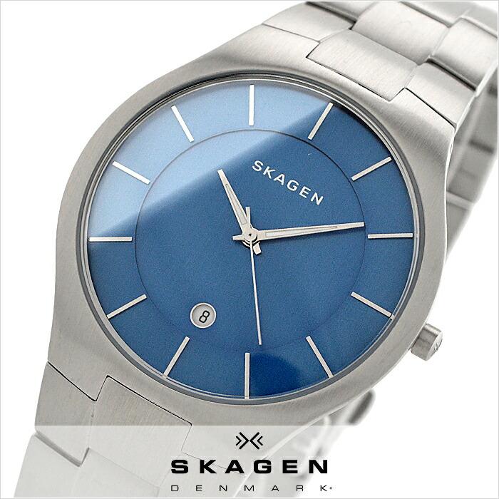 スカーゲン グレーネン ブルー SKW6181 メンズ