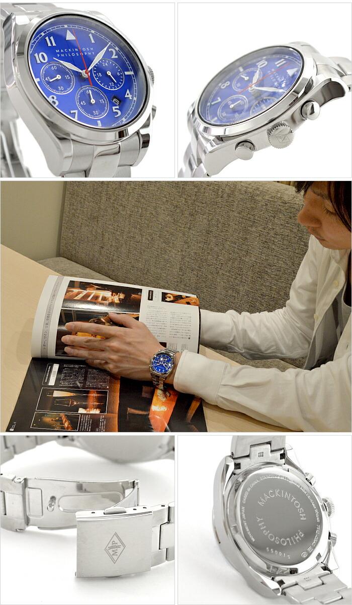 マッキントッシュフィロソフィー ビンテージライン (ラージ)  クオーツ ハードレックス 10気圧防水 FBZV985 メンズ