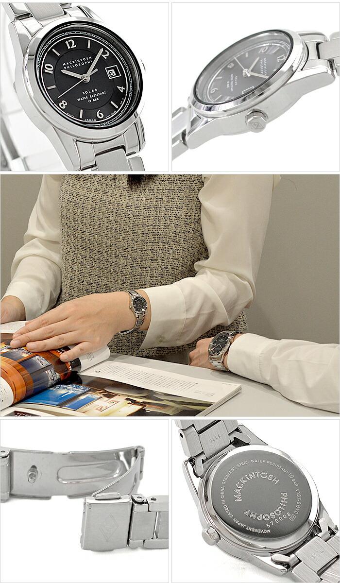 マッキントッシュフィロソフィー ペアウォッチ ソーラー ハードレックス 10気圧防水 FDAD999 レディース