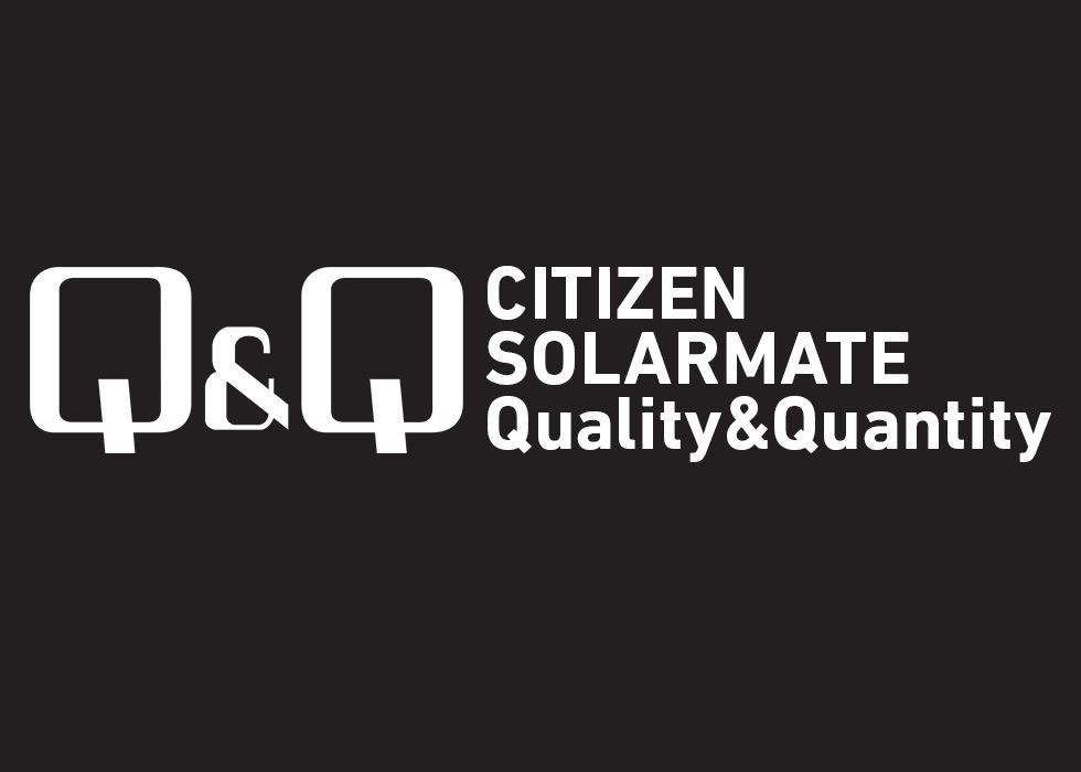 シチズン キュー&キュー コンビネーション ソーラーメイト 電波ソーラー シルバー×ブラック MD02-202 メンズ
