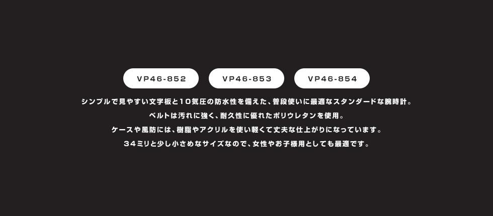 シチズン キュー&キュー ファルコン ブラック×ホワイト VP46-852 ユニセックス