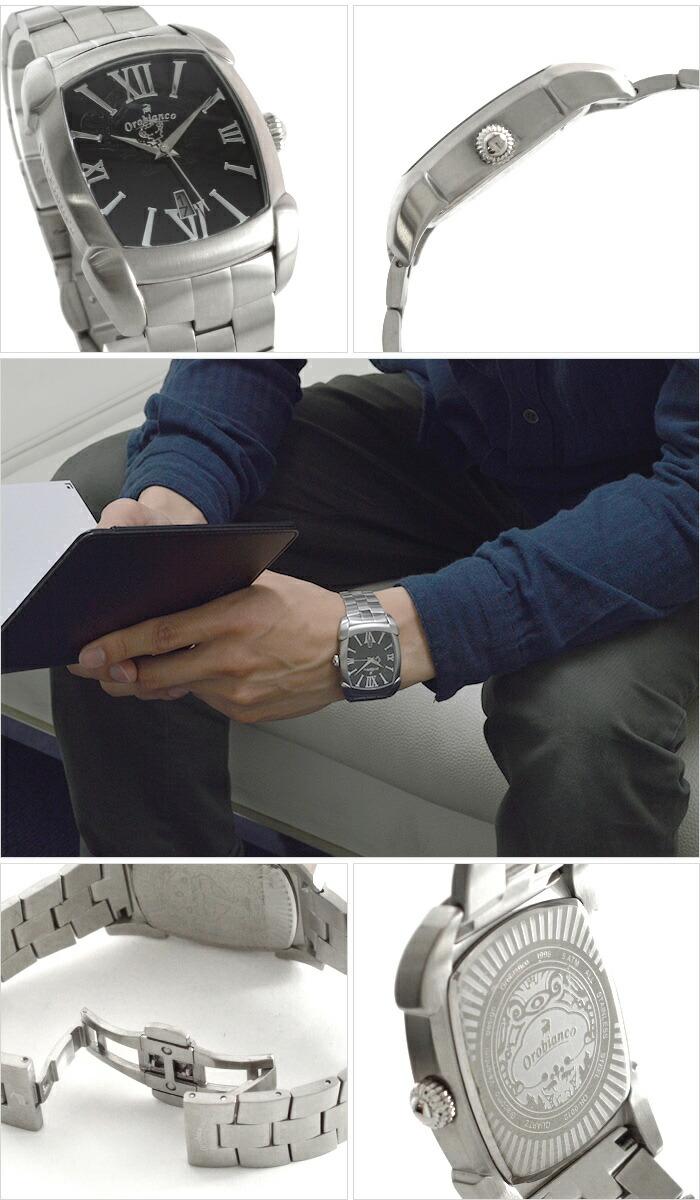 オロビアンコ タイムオラ レッタンゴラ メタル OR-0012-23 メンズ