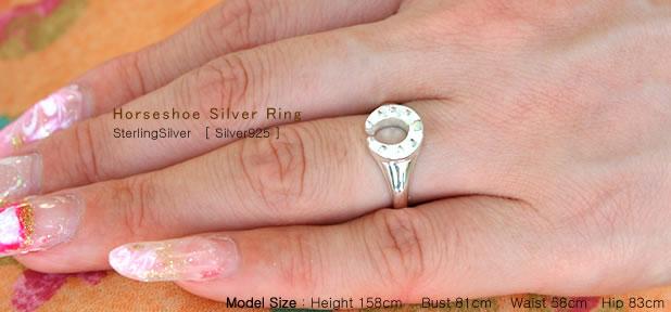 馬蹄シルバーリング −Horseshoe Silver ring−