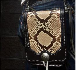 ダイヤモンドパイソン メディスンバック 蛇革バック 実装例