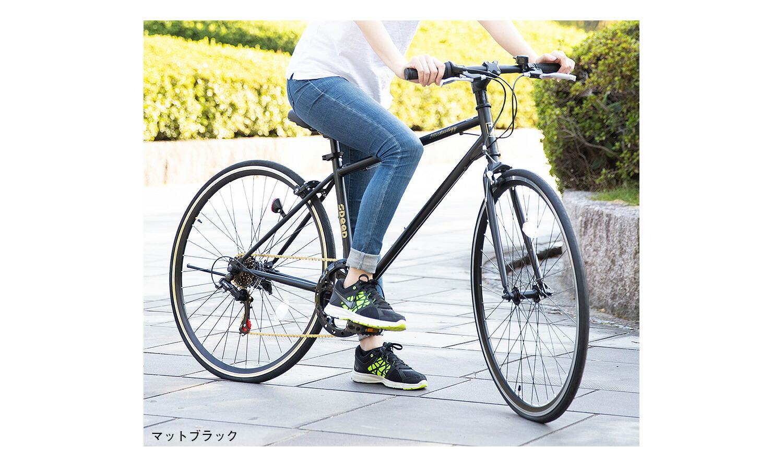 クロスバイク700×28cイメージブラック