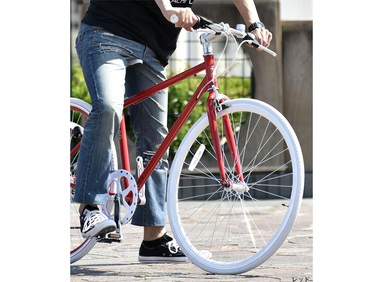 クロスバイク700×28cイメージレッド