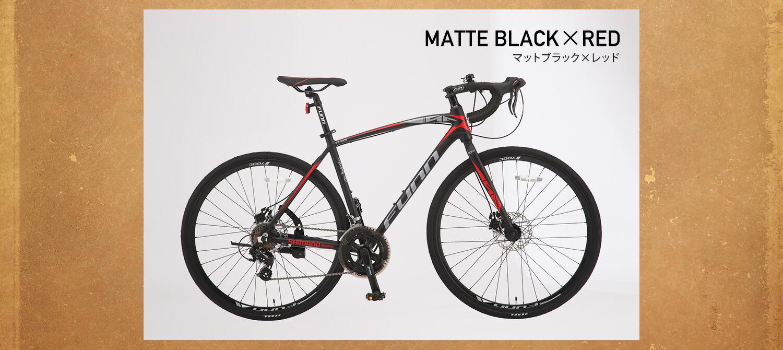 ロードバイク GT700S マットブラック×レッド