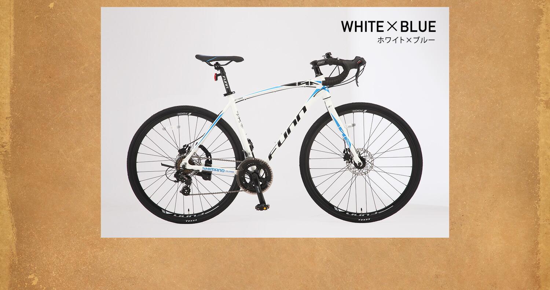 ロードバイク GT700S ホワイト×ブルー