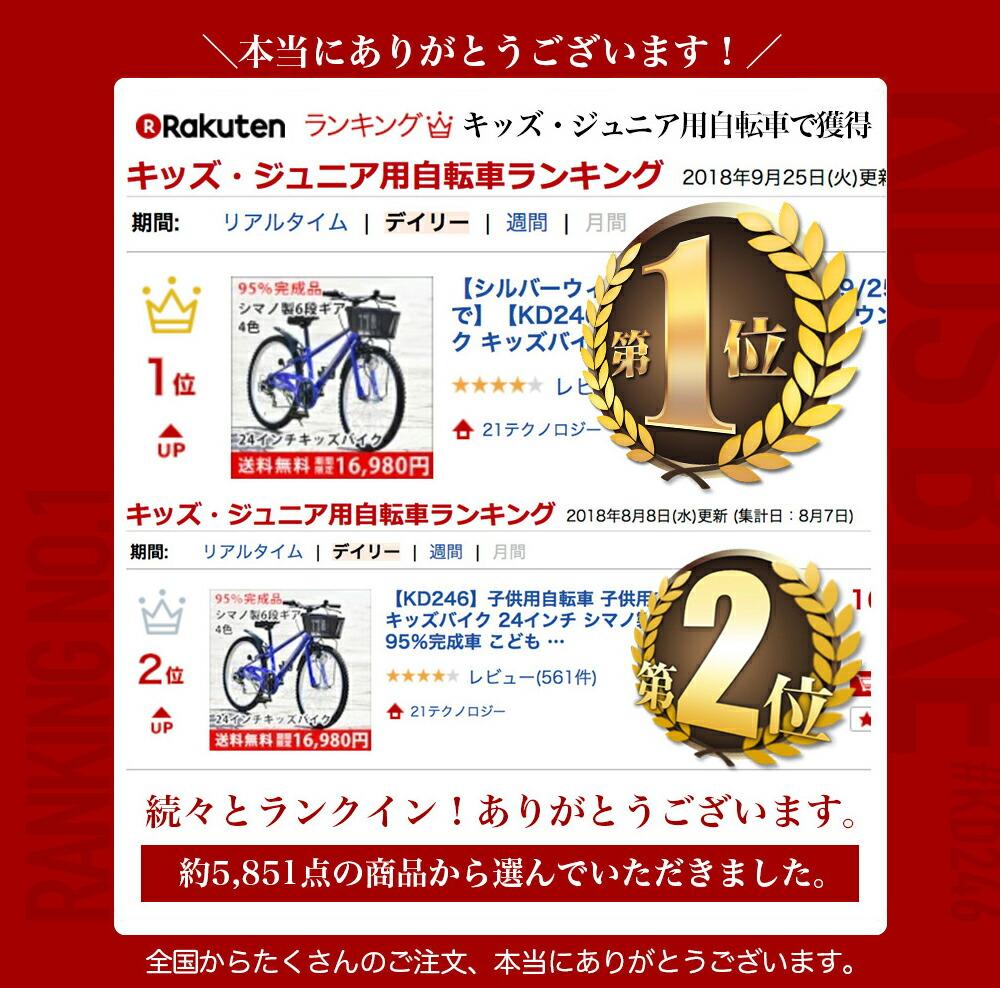キッズバイク KD246 楽天1位獲得