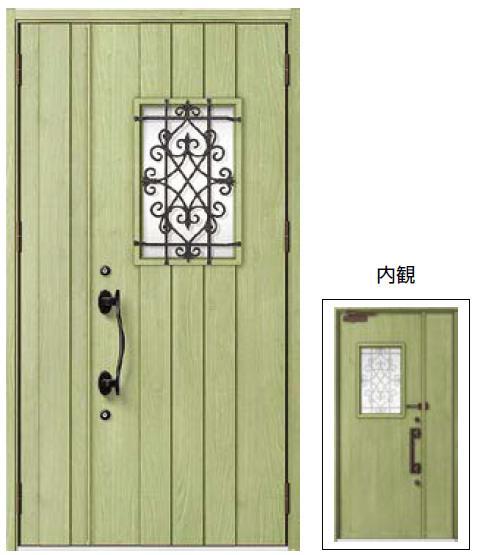断熱玄関ドア ジエスタ C41型 親子きタイプ k4仕様