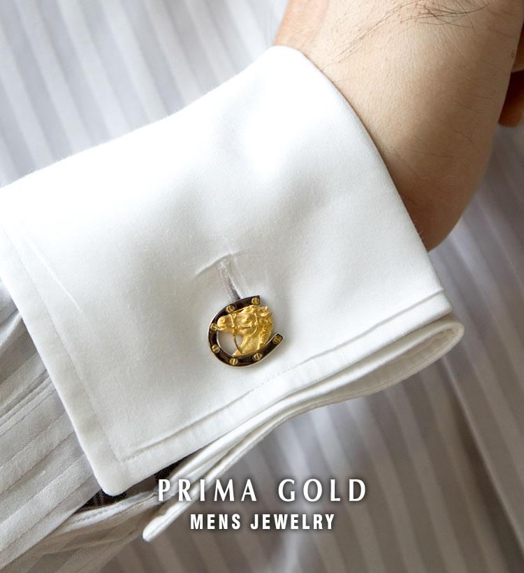24K PRIMA GOLD - mens jewelry - 24金モチーフのカフスボタン