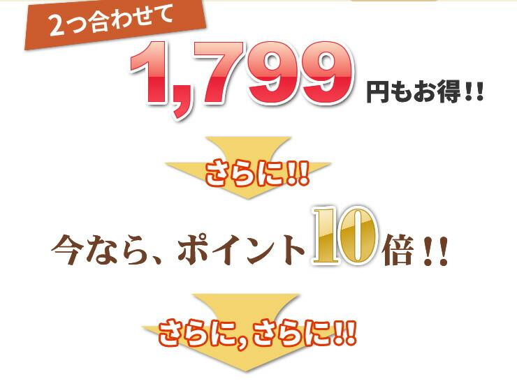 2つ合わせて1,799円もお得!! さらに!!今なら、ポイント10倍!! さらに ,さらに!!