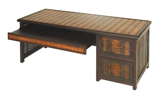 竹家具/バンブーファニチャー PCデスク ローテーブルタイプ