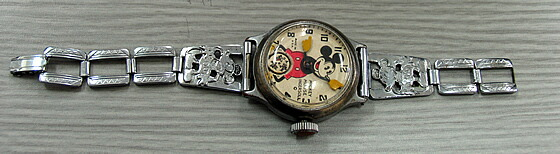 1933年に発売されたミッキーマウスウォチのファーストモデル現物