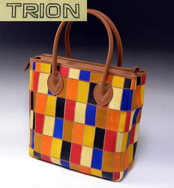 トライオン グローブレザーP250 パッチワークトート / trion