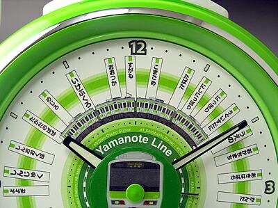 山手線 駅メロ 目覚し時計2は山手線1周全29駅を所要時間に合わせ配分したこだわりのデザイン