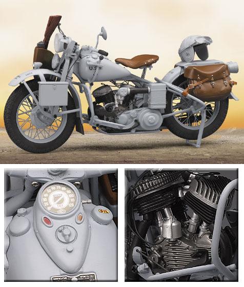 フランクリンミント 1944年型ハーレーダビッドソン・U・ネイビー・ミリタリー・モーターサイクル限定版