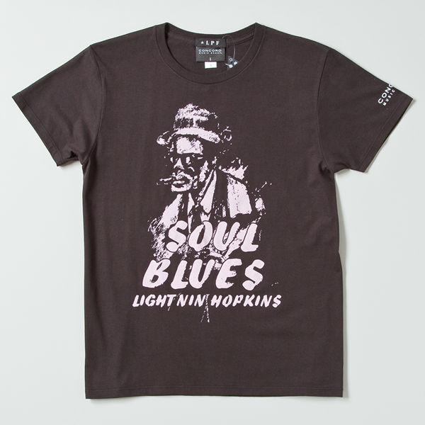 ライトニン・ホプキンス ソウルブルーズTシャツ LP-1402 ブラック