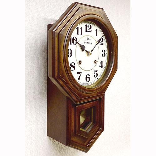 ボンボン式 振り子時計(八角) アラビア数字 688-QL 日本製 / 688-QL