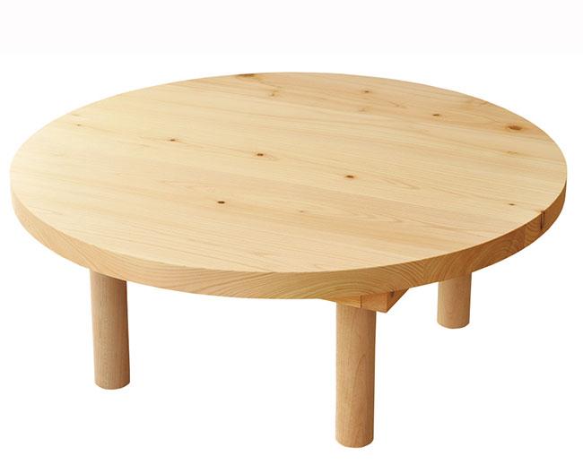MONOMANIA  라쿠텐 일본: 노 식탁 60cm 둥근 원탁 로우 테이블
