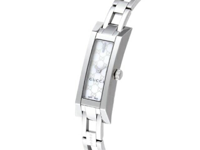 グッチ 腕時計 GUCCI 時計 レディース Gリンク G-Link ブレスタイプ / ホワイトパール
