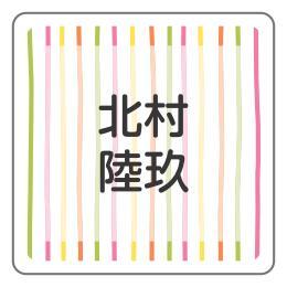 1606-2.オレンジ細めストライプ柄