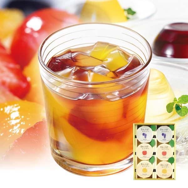 果実のお酢すっきりゼリー3種類詰合せ〈6個入り〉