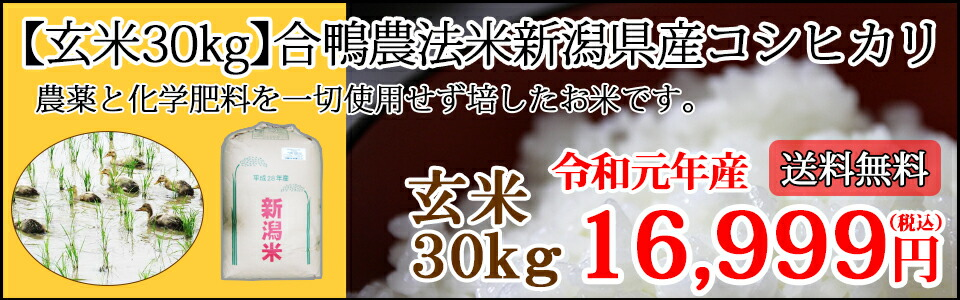 玄米30kg合鴨農法米