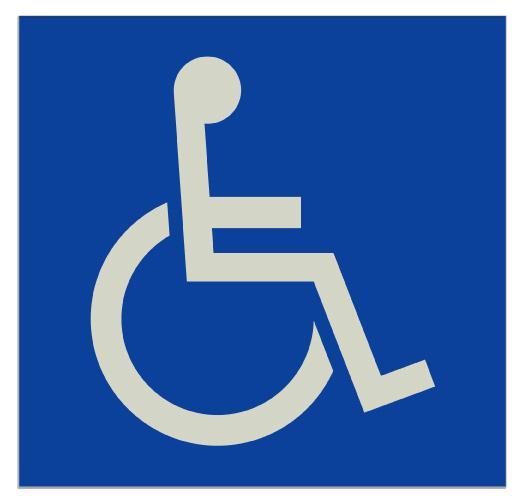身障者(車椅子)マークステッカー