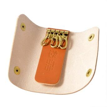 イルビゾンテ IL BISONTE C0799 P 145 Caramel 三つ折り 4連 キーケース KEYRING