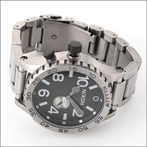 【NIXON】ニクソン メンズ 腕時計 THE 51-30 (フィフティーワンサーティー) メンズ ブレスウオッチ(アンティークシルバー) A057-479