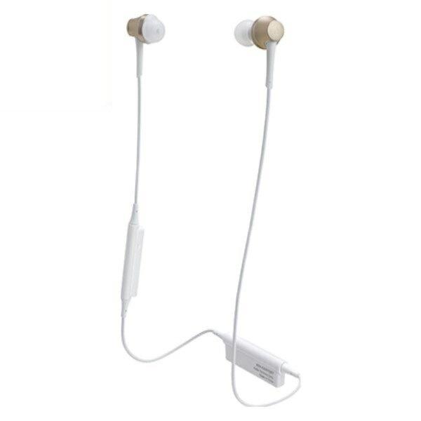 【送料無料】オーディオテクニカ Bluetooth ワイヤレスヘッドホン aptx/AAC対応 シャンパンゴールド ATH-CKR75BTCG