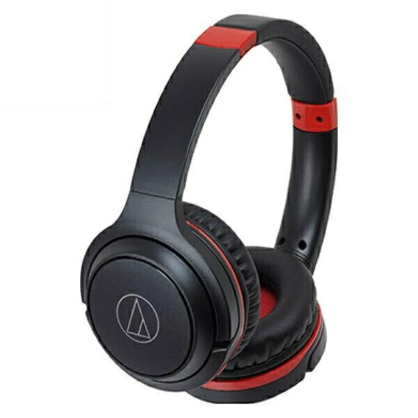 オーディオテクニカ Bluetooth ワイヤレスヘッドホン ブラックレッド ATH-S200BTBRD