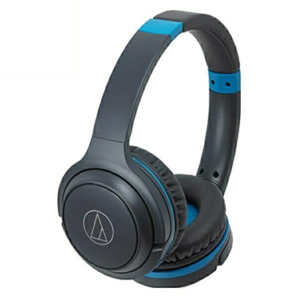 オーディオテクニカ Bluetooth ワイヤレスヘッドホン グレーブルー ATH-S200BTGBL