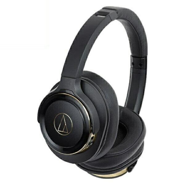 【送料無料】オーディオテクニカ Bluetooth ワイヤレスヘッドホン SOLID BASS ブラックゴールド ATH-WS660BTBGD