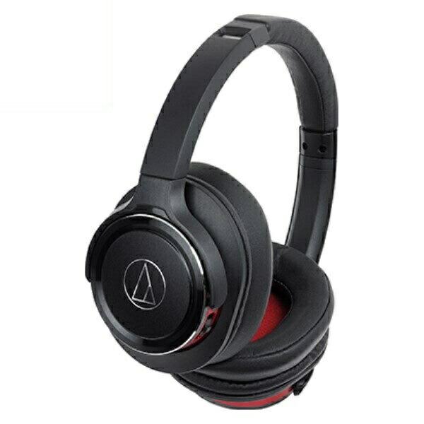 【送料無料】オーディオテクニカ Bluetooth ワイヤレスヘッドホン SOLID BASS ブラックレッド ATH-WS660BTBRD