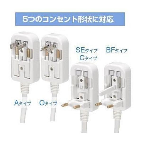 【送料無料】ヤザワ 海外旅行用マルチプラグ変圧器 130V-240V 300-120W A・C・O・BF・SEタイプ HTDM130240V300120W