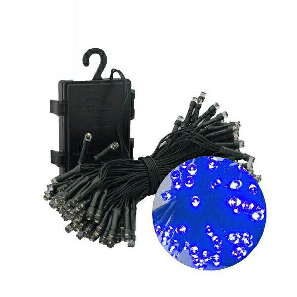 【送料無料】クリスマスツリー用 防滴イルミネーションLEDライト 100球 全長10m 電池付属 ブルー