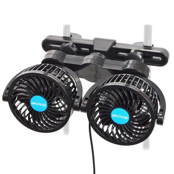【送料無料】サンコー ヘッドレスト固定式爆風ツインファン 12V車専用 車載用扇風機 CARDBFAN カー用サーキュレーター せんぷうき