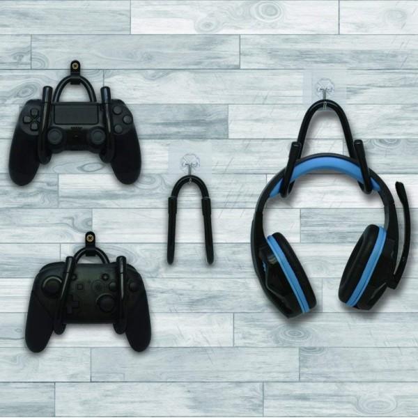 【送料無料】コロンバスサークル マルチハンガーセット ゲーム・ヘッドホン収納ハンガー CC-MLMHS-BK Switch・クラシックミニ・PS4コントローラー・ヘッドホン対応