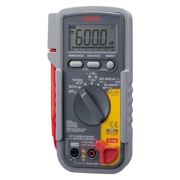 三和電気計器/SANWA デジタルマルチメータ 導通LED/バーグラフ機能搭載 CD-732